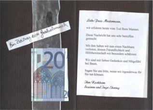Geld Zur Beerdigung