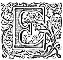 Verzierter Großbuchstabe E