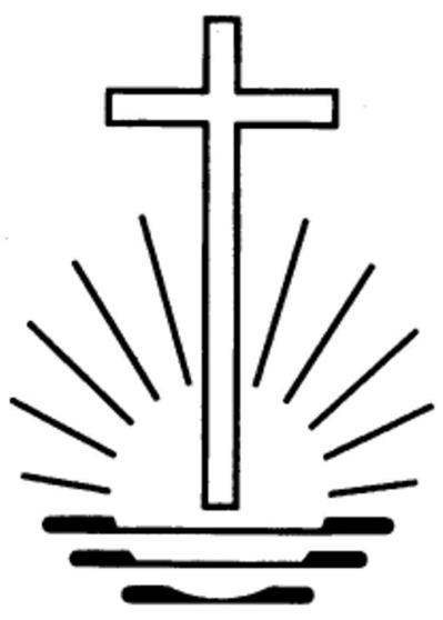 Kreuz auf untergehender Sonne
