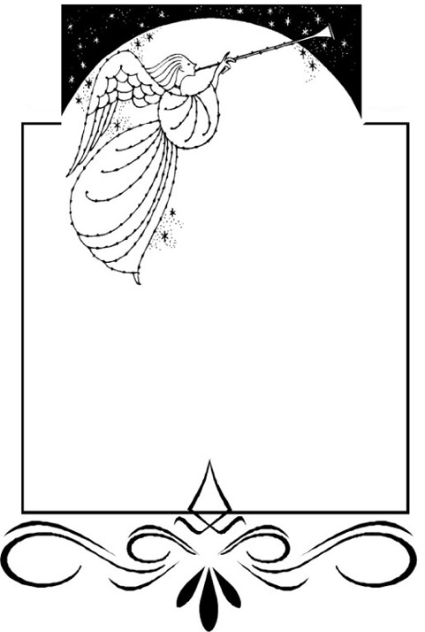 zierrahmen posaunenengel - Kondolenzbrief Muster