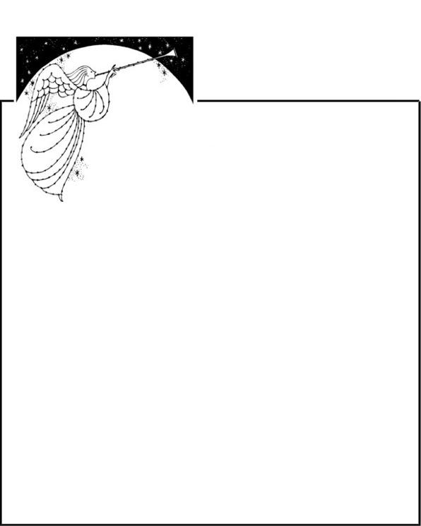 rahmen posaunenengel nachthimmel - Kondolenzbrief Muster